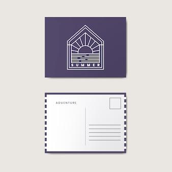 Макет шаблона оформления почтовой открытки
