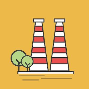 発電所のイラスト