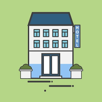 Иллюстрация большой отель