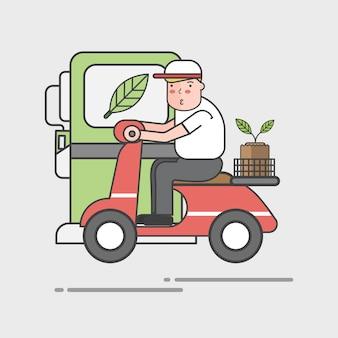 Иллюстрация набор экологического вектора