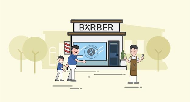Иллюстрация набор вектор парикмахерской
