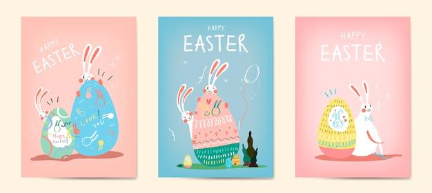 Коллекция иллюстрации празднования пасхи