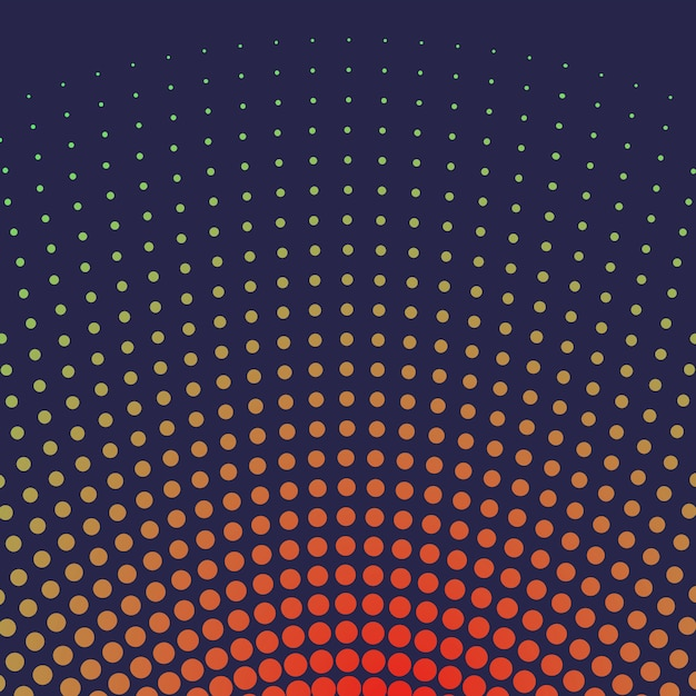 赤のグラデーションハーフトーンの背景のベクトル