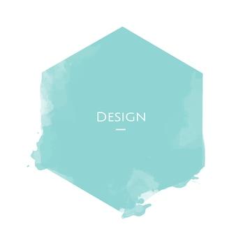 お知らせ六角形バッジテンプレートデザインイラスト