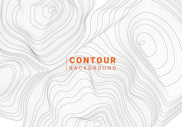 Монохромный абстрактный контур линии иллюстрации