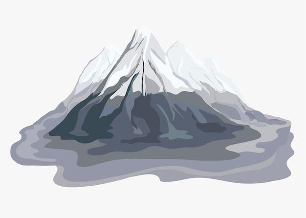 ペイントマウンテンビューの風景のイラスト