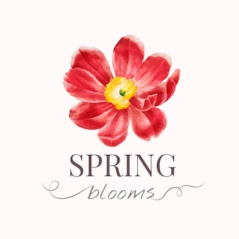 花ブランドのロゴのテンプレート