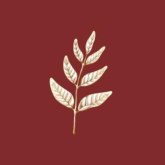ビンテージの葉の描画