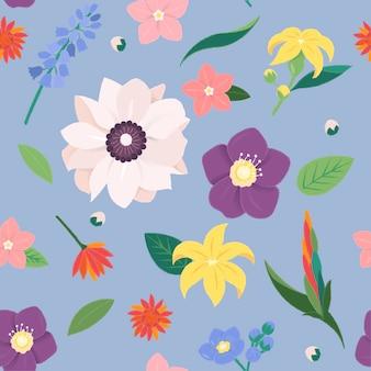 Цветочная расцветка винтажная коллекция украшений