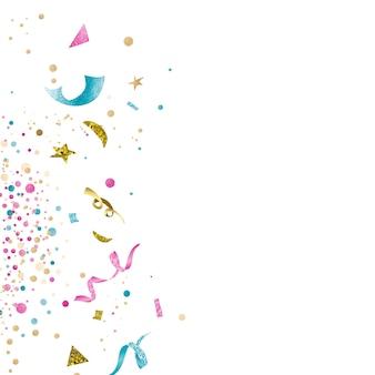 カラフルな紙吹雪のお祝いデザイン