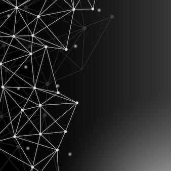 Черная иллюстрация нейронной сети