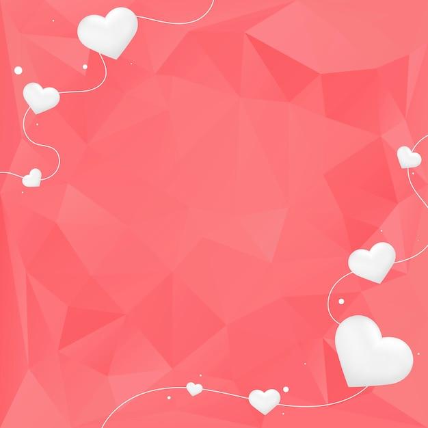バレンタインデーの背景イラスト