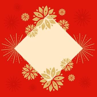 中国の旧正月のモックアップの図