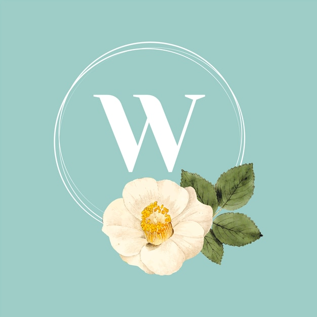Шаблон логотипа цветочный бренд