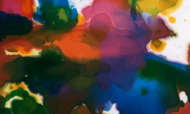 Красочные чернила акварель текстурированный фон