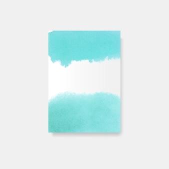 ターコイズ水彩風ポスターベクトル