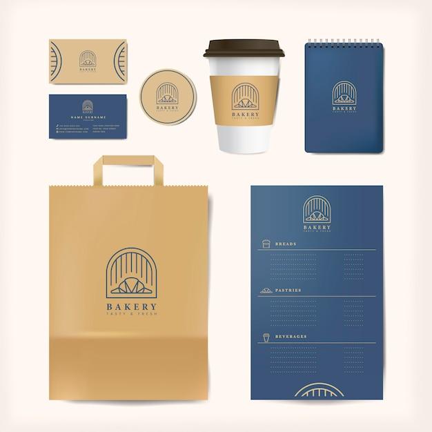 Бумага брендинг макет векторный набор