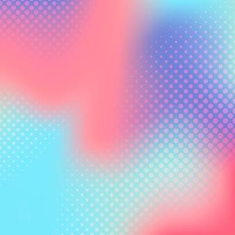 多色グラデーションハーフトーン背景ベクトル
