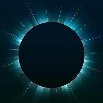 Пустой зеленый круг неоновая вывеска вектор