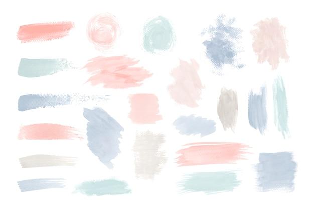 カラフルなブラシストロークデザインベクトルを設定