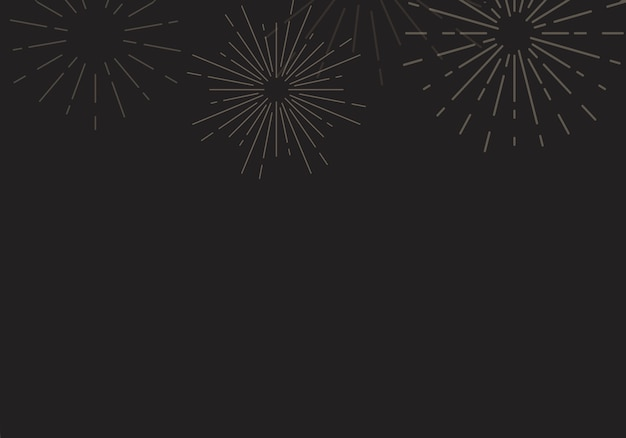 Санберст дизайн фона в черном векторе