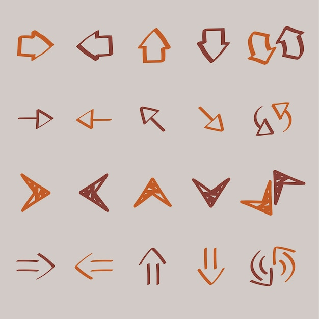 矢印のコレクションは、イラストのイラスト