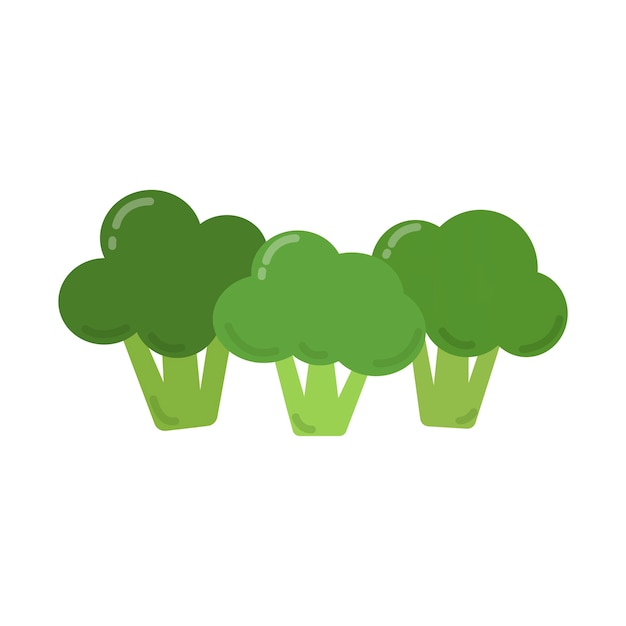 健康な緑色のブロッコリーのグラフィックイラスト