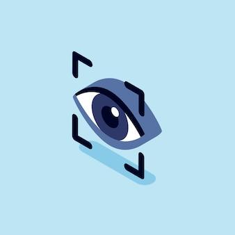 目の認識のスキャンの図