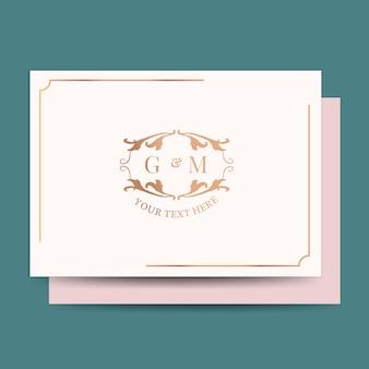Классический свадебный пригласительный билет