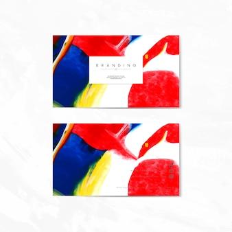 芸術的ブランディングカード
