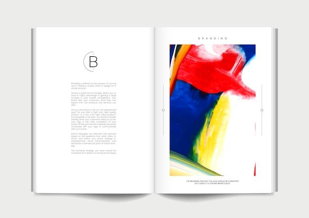 ブランドのアイデアがある雑誌