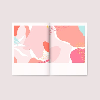 Красочный мемфис дизайн журнала вектор