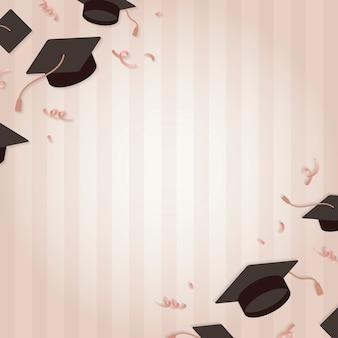 モルタル板ベクトルと卒業の背景