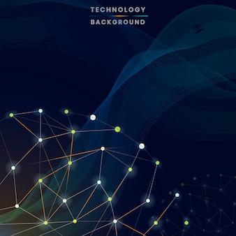 黄色の未来的な技術の背景のベクトル