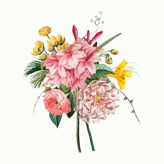 Винтажный букет цветов