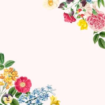 美しい花柄ボーダーデザインのベクトル