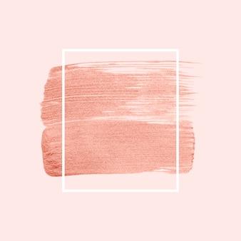 ピンクのブラシストロークバッジベクトル
