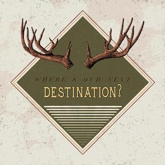 Направление путешествия логотип дизайн вектор
