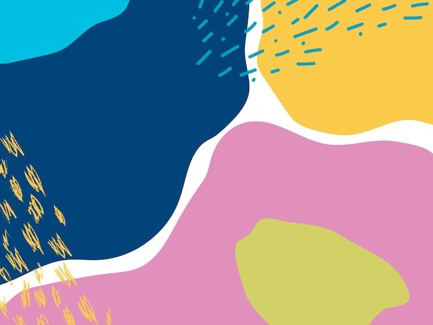 カラフルなメンフィスデザインの背景ベクトル