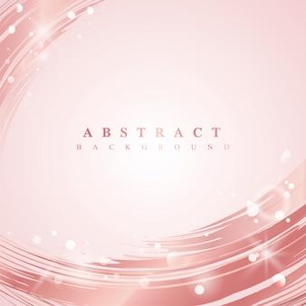 ピンクの波の抽象的な背景のベクトル