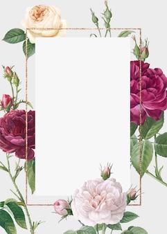 Цветочный дизайн свадебного приглашения макет
