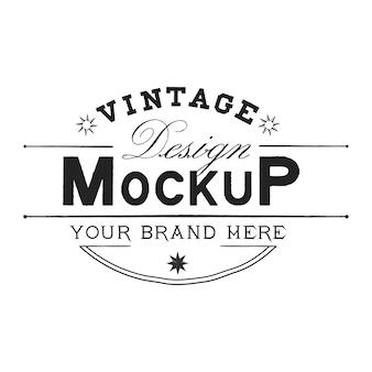Урожай макет логотипа дизайн вектор