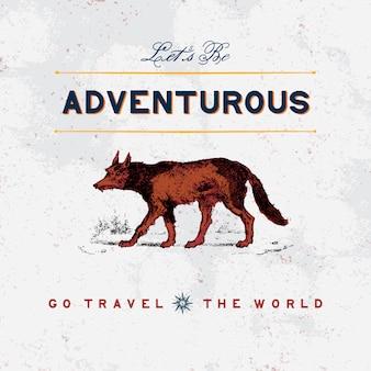 冒険旅行のロゴデザインベクトル