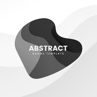 黒の抽象的なバッジテンプレート