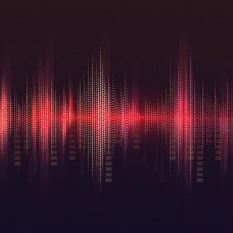 Красный эквалайзер узор фона вектор