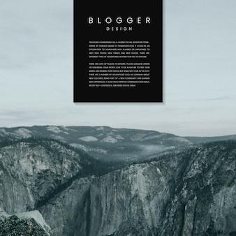 ブログウェルカムページテンプレートデザインベクトル