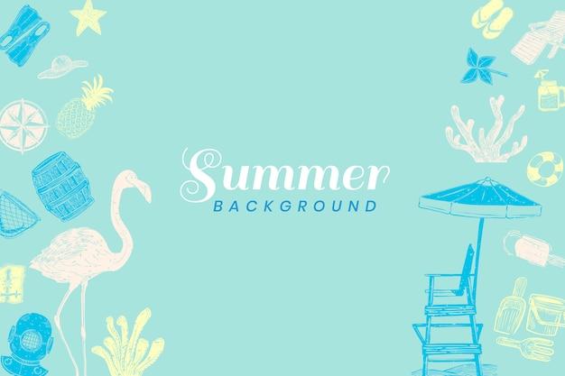 ターコイズブルーの夏の背景