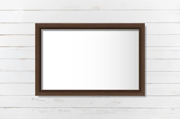 壁にシンプルな空白の枠