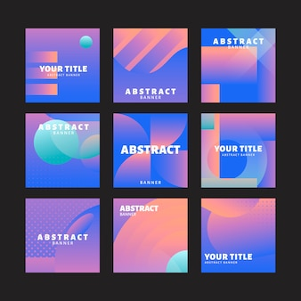 紫色の抽象的な背景セット