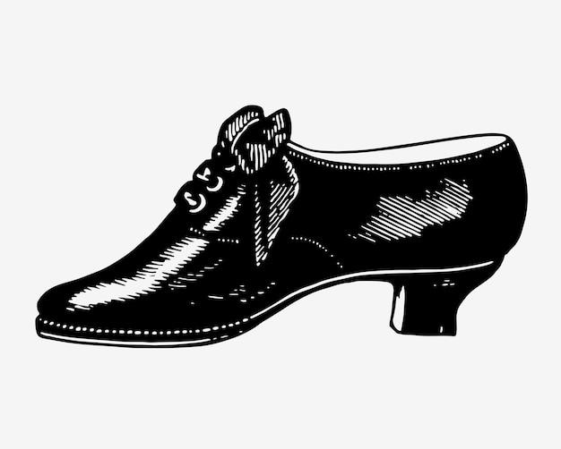 Винтажная обувь иллюстрация